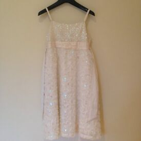11 years Ivory sequined Monsoon dress