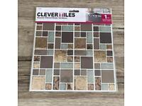CLEVER TILES x 20 **FREE P&P** mosaic glitter self-adhesive sticker stick on COPPER / GOLD