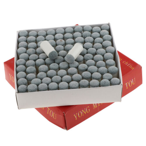 100Pcs/Pack Table Pool Billiard Slip-on Push-on Cue Stick Ti