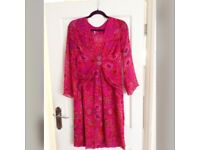 Fuschia pink and red occasion dress/outfit
