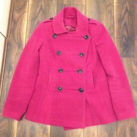 Worn Twice Stunning Size 10 Wool Coat