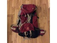 Backpack, 60-70 liters, by Vango
