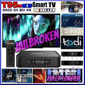 ANDROID TV BOX✔️T95 FULLY LOADED✔️64 bit 2Ghz✔️KODI✔️MOVIE 4k HD✔️IPTV✔️SPORTS✔️TOP OF THE RANGE