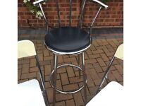 Chrome bar Stool and Retro Chairs