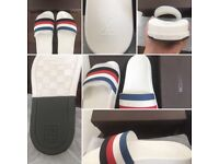 Very nice men's slippers 3 left 1x white size 44, 1x black size 39, 1 black size 41.
