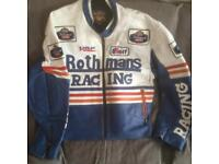 Rothmans leather motorbike jacket