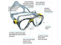 Cressi Big Eyes Evolution Crystal Scuba Diving Snorkeling Mask Yellow NEW