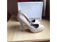NEW - Never Worn- Beige High Heels Women Shoes - Size 5/38 - £10 only