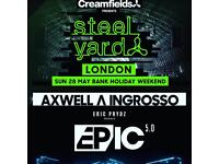 Steel yard tickets x2 for Eric Prydz + x2 for Axwell ingrosso