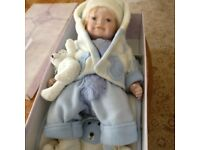 """21"""" porcelain Baby Doll BNIB"""