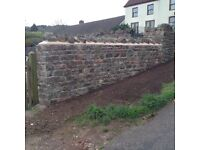 Building stone for natural rubble walls