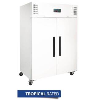 2 Door Upright Freezer 1200Ltr White