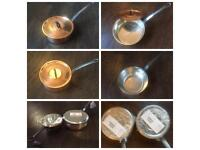7 Baumalu copper saucepans & pots