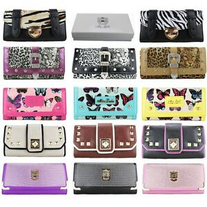 Ladies-Designer-Animal-Print-Purse-Evening-Clutch-Bag-Leather-Wallet-GIFT-BOXED