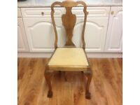 STUNNING QUEENE ANNE REVIVAL CHAIRS WITH BALL & CLAW FEET - EXCELLENT CONDITION