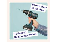 Borrow £7 per day - Bosch Cordless Drill / Bosch SDS Drill in South London