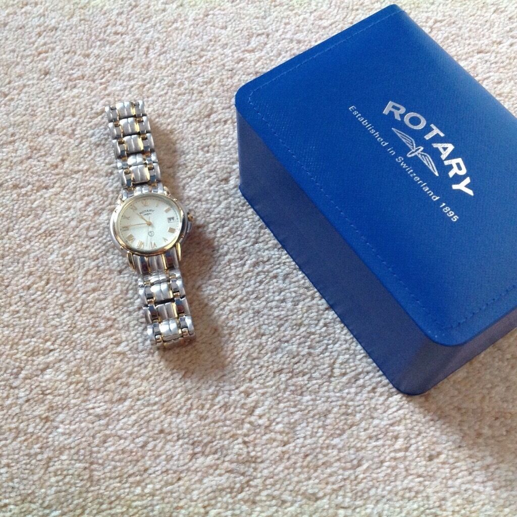 Gents Rotary Watch (brand newin Bearsden, GlasgowGumtree - Brand new, beautiful timepiece , never worn. Bracelet style strap with additional piece that can be added. Boxed and protective box sleeve included. Looking to make room