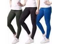 womens black leggings brand new size 16