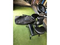 Massage Bed Stool Chair Shiatsu foldable adjustable black