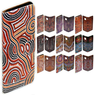 For Apple iPhone Series Case - Aboriginal Art Print Flip Wallet Phone Case Cover - Art Apple Iphone