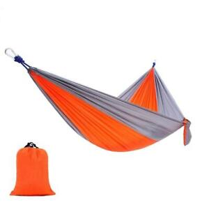 Portable Parachute Hammock - Lightweight for Outdoor or Indoor, Camping & Hiking (Orange)