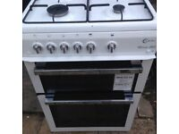 White Milano Gas cooker 60cm.....Mint Free delivery