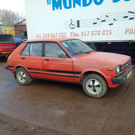 Left hand drive Toyota Starlet KP61L 1.3 S. REAR WHEEL DRIVE. Race / Drift / Rally.