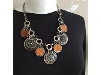 Country casual costume necklace