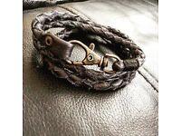 Hand made leather vintage bracelet