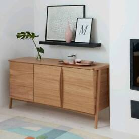 LARGE Duhrer Oak Modern Sideboard Cabinet TV from John Lewis