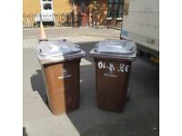 Brown wheely bins £30 each delivered