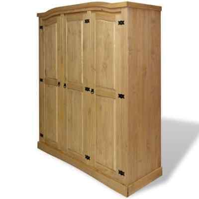 - vidaXL Wardrobe Mexican Pine Corona Range w/ 3 Doors Closet Cabinet Organizer