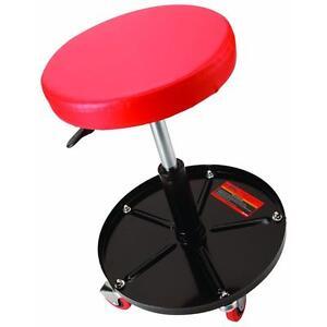 Seat Adjustable Stool Work Shop Tool Garage Chair Steel