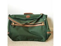 Mens Travel Suit Carrier, Green w/ Leather Detail | Great condition