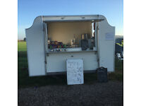 AN ATTRACTIVE CATERING TRAILER MADE BY BDS USED FOR DONUTS DRINKS ECT REGULAR PITCH