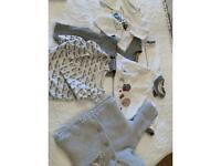 Grey/white 3months baby bundle - 6 items including Disney baby and Mayoral brands.