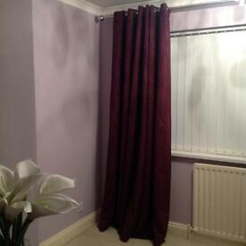 Luxury lined ringed curtains x 2 pairs
