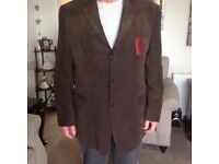 "Mans size 44"" chest brown jacket"