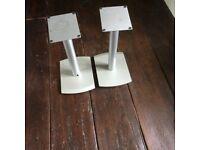 Slim flat pair of speker stands , height 46cm