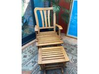 Rocking chair and stool (must collect)