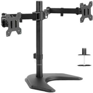 Vivo dual LCD monitor heavy duty height adjustable two screens desk mount