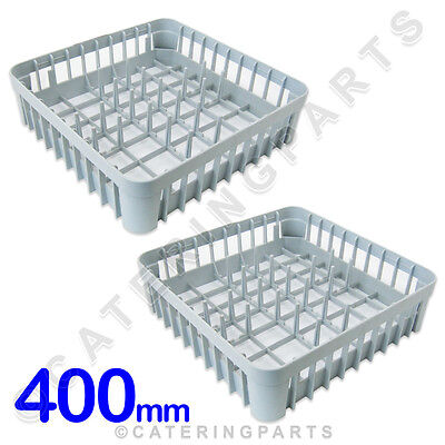 2 x 400mm SQUARE DISHWASHER GLASSWASHER square PLATE RACKS PEGGED BASKETS 400 Mm Basket
