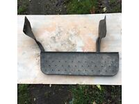 Rear step for a 2010 Ford transit van