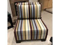 Casual sofa chair for sale - virtually brand new