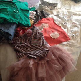 bundle of girl's clothes ages 3/4/5 years old