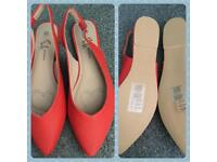 *Brand New* coral sling back shoes size 5. Bought for £25 from Avon asking for £8