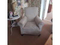 For Sale, Original Victorian armchairs, with loose washable covers. £50 the pair, £25 each.