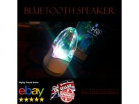 Bluetooth AUX Speaker Portable Dancing Water LED Light Powerful Loud Waterproof