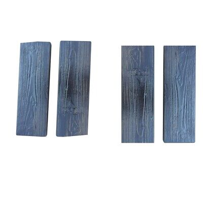 4pcs Wooden Mould Stepping Stone Stepping Wood Grain Stone Forms