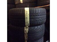 225/40/18 x2 Bridgestone RUNFLAT tyres 6mm tread